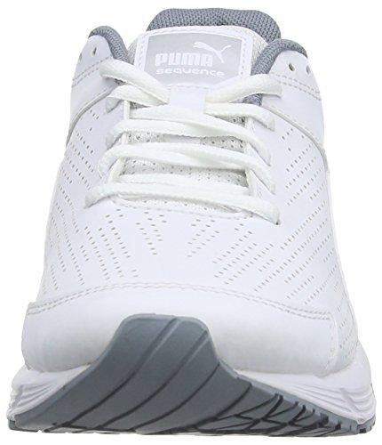 Puma Sequence Sl W, Damen Laufschuhe Training Weiß (Wht/Pma.Silver)