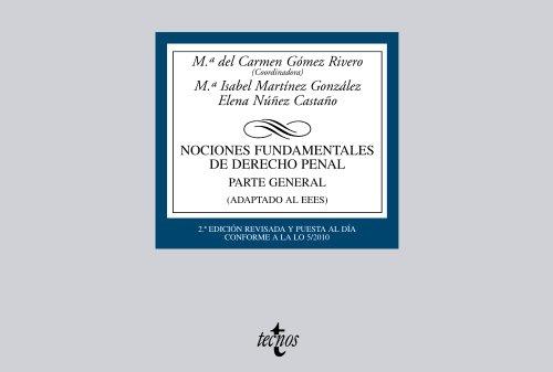 Nociones Fundamentales de Derecho Penal: Parte General (Adaptado al EEES) (Derecho - Biblioteca Universitaria De Editorial Tecnos)