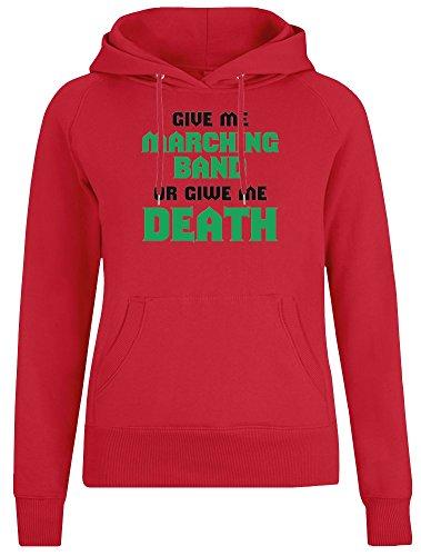 Give Me Marching Band or Give Me Death Jacke mit Kapuzenpulli fu00c3u00bcr Frauen - 100% Weiche Baumwolle - Benutzerdefinierte Bedruckte Damenbekleidung X-Large