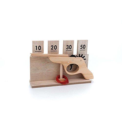Engelhart - Giocattolo vintage Tiro al Bersaglio Pistola in legno con elastico - 340910