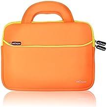 mCoque Calidad Funda Bolso Sleeve de neopreno para 10,1 pulgadas ASUS Chromebook Flip C100PA portátil con la manija y bolsillo para accesorios (Naranja)