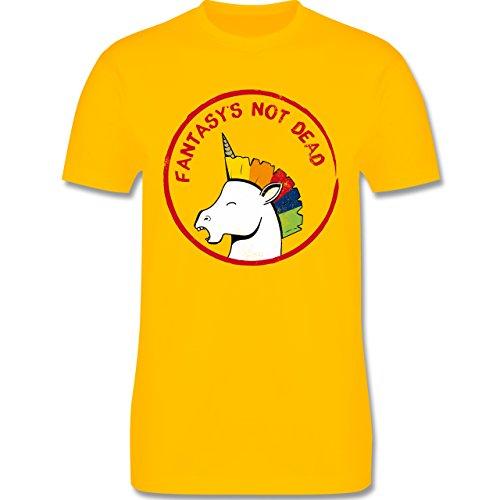 Comic Shirts - Fantasy's not dead Punk Einhorn - Herren Premium T-Shirt Gelb