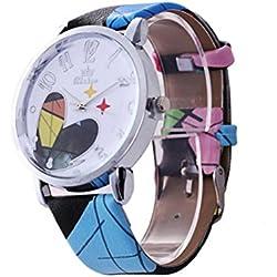 Fulltime(TM) Fashion Love Pattern Leather Band Analog Quartz Vogue Wristwatches