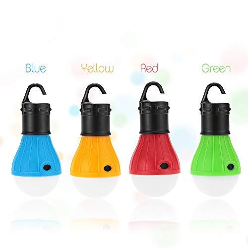 Qiong YaoTIAN Nachtlicht 4 stücke Eletorot Tragbare Outdoor Hängezelt Camping Lampe Weiches Licht LED Birne Wasserdichte Laternen Nachtlichter Verwenden 3 * AAA Batterie