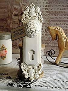 mente Shabby Türgriff Garderobenhaken Vintage Hakenleiste (Ornament-haken)