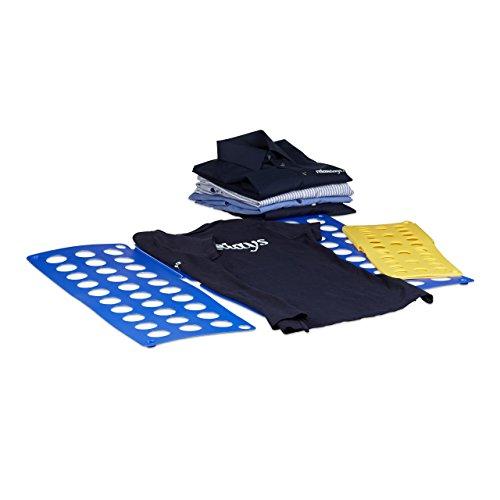 Relaxdays 10010335 Faltbrett 2-er Set A4/A5 mit Anleitung Wäsche Falthilfe