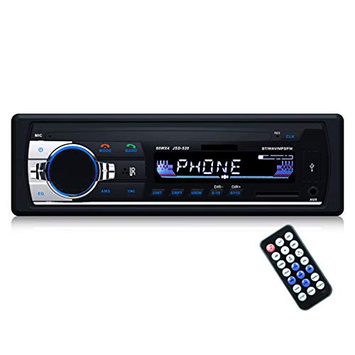 Mengonee JSD520 Autoradio-Stereo Player Digital Bluetooth Auto-Aux Input-Empfänger SD USB-MP3-MMC WMA-Player - 520 Bluetooth