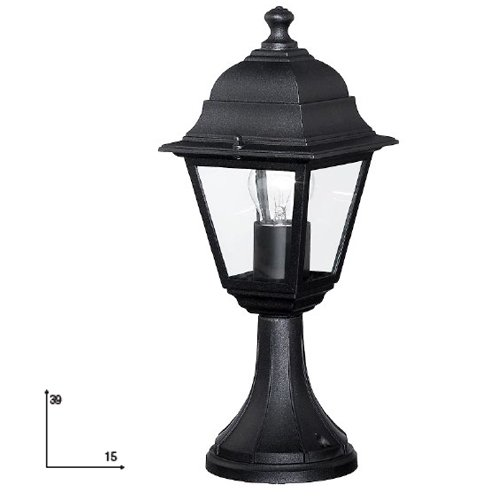 Lampione basso per arredo giardino cm 15x39