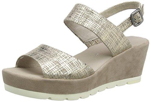 Gabor Shoes Women's Fashion Wedge Heels Sandals, Beige (Silk/Mauve 32), 6.5 UK