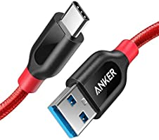Anker PowerLine+ USB-C to USB 3.0 cable (3ft/0.9m), High Durability, for USB Type-C Devices, for Samsung Galaxy S10, S9,...