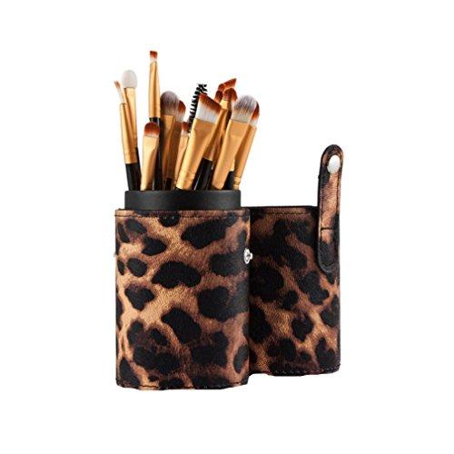 Saingace 20PCS Pinceaux de Maquillage Outils de Maquillage Fard à Paupières Brosse Fard à Joues Anticernes de Pinceau/Or