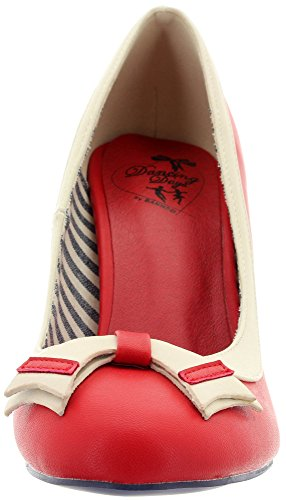 Dancing Days Banned Pumps Sparkle Falls BND270 Red