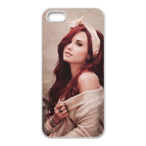 Demi Lovato coque iPhone 5 5S Housse Blanc téléphone portable couverture de cas coque EBDXJKNBO10732