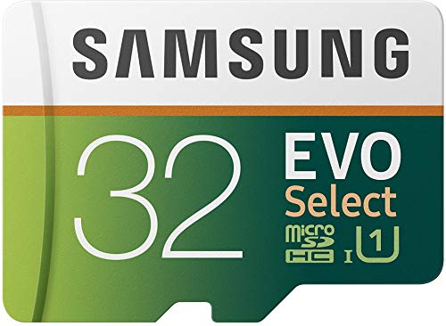 Samsung EVO Select microSDHC 32 GB Speicherkarte bis zu 95 MB/s, UHS-I U1 (inkl. SD Adapter) - 32 Gb Video-karte