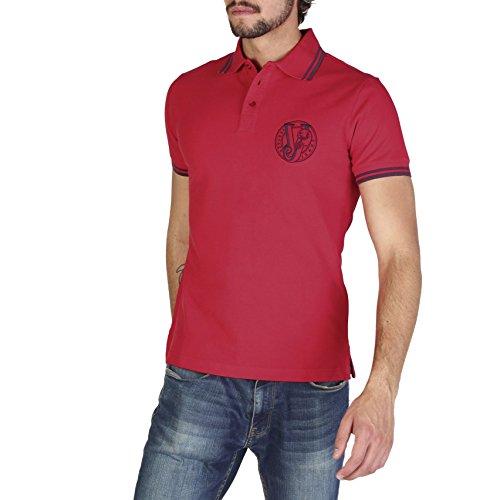 Versace jeans polo t-shirt maglia maniche corte uomo rosso eu 48 (uk 38) b3gra7p1