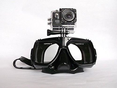 Tauchmaske aus Silikon mit Kamerahalterung für Action Cams, bis 30m
