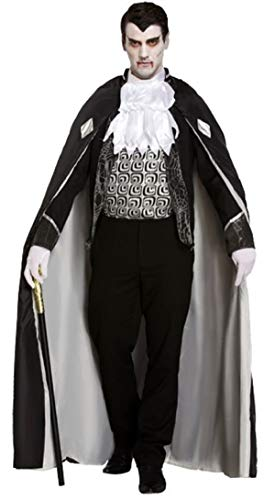 Fancy Me 4 Stück Herren Schwarz Grau Toter Zombie Vampir GRAF Dracula Halloween Kostüm Kleid Outfit