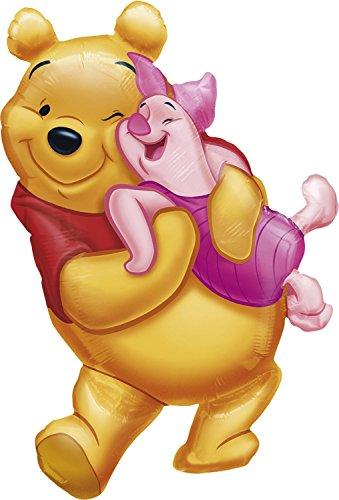 Anagram 0777101 - Party und Dekoration - Folienballon SuperShape - Disney WinniePooh und Ferkel, circa 51 x 81 cm