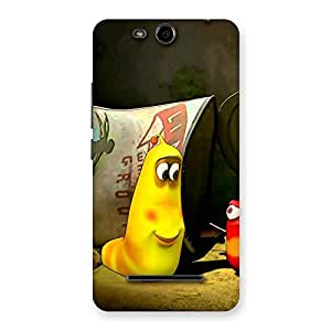 Gorgeous Naughty Friendly Cartoon Back Case Cover for Micromax Canvas Juice 3 Q392