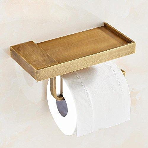 SDKKY-Supporto a mensola per carta igienica, ottone anello di tovagliolo