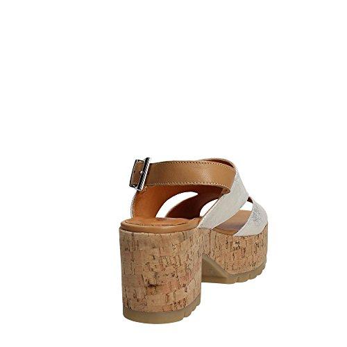 Keys 5251 Sandalo Tacco Donna Platino