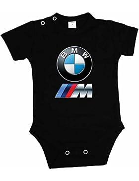 BABY BODY BMW POWER LOGO BODYSUIT KURZARM SCHWARZ