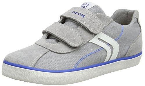 Geox Jungen J Kilwi  I Low-top Sneaker, Grau (Grey/Royal), 39 EU