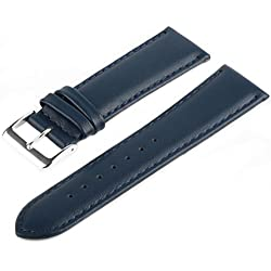 Marchel Smooth Leather Watch Band Watch Strap LLB30 Leather 19 mm Watch Strap