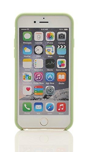 "iProtect Silikon Schutzhülle Apple iPhone 6 Plus (5,5"") Soft case gummiert in Schwarz Grün"