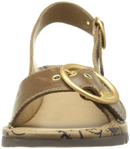 Fly London - Sandali, Donna marrone scuro (Marron (Camel 001))