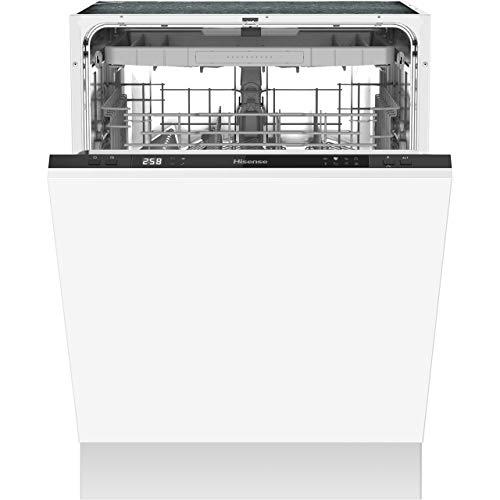 Hisense HV60340UK Fully Integrated Standard Dishwasher - Black Control Panel with Fixed Door Fixing Kit