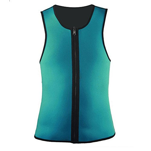 a8cff9d6d54 XZANTE Taille abnehmen Weste Gym Kleidung Power Belt Body Shapewear Maenner  Hot Shaper Sportswear Gruen