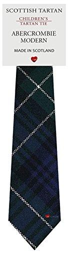 I Luv Ltd Garçon Tout Cravate en Laine Tissé et Fabriqué en Ecosse à Abercrombie Modern Tartan