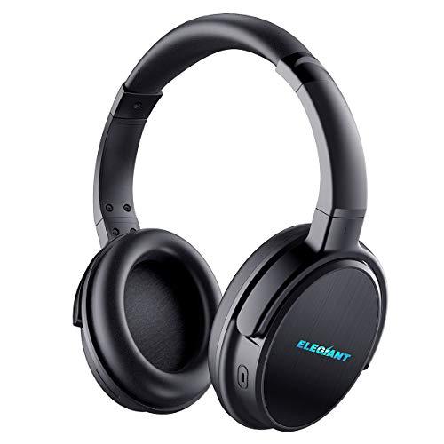 Auriculares Bluetooth Diadema, ELEGIANT Cascos Inalámbricos con Micrófono Multifunción Manos Libres Estéreo Sonido de 16 Horas de Uso para Android iPhone XS Max XS X 8 7 6 Samsung Galaxy Note9 S9 S8 Huawei Sony Tabletas Ordenador PC
