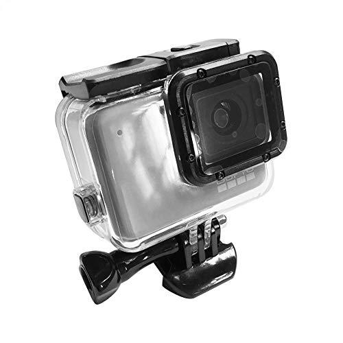 Domybest Boîtier étanche sous l'eau + Touch Coque Arrière pour GoPro Hero7 Silver/White