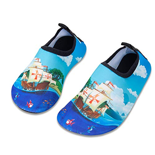 b3daf8813 HMIYA Kids Beach Shoes Swim Water Shoes Toddler Shoes Boys Girls Barefoot  Aqua Socks for Children