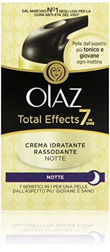 Olaz Total Effects 7 in 1 Crema Idratante di Notte, Anti-Età, 50 ml