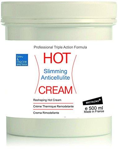 Crème Effet Chaud Lipo Réductrice Anti Cellulite HOT CREAM 500 ml - Crème Thermo Active Échauffement Musculaire Sport - Crème Thermique Minceur - Crème Chauffante Anti-douleurs ( dos, articulations)