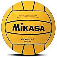 Mikasa 6000 - Balón de Waterpolo, Color Amarillo, Talla 5