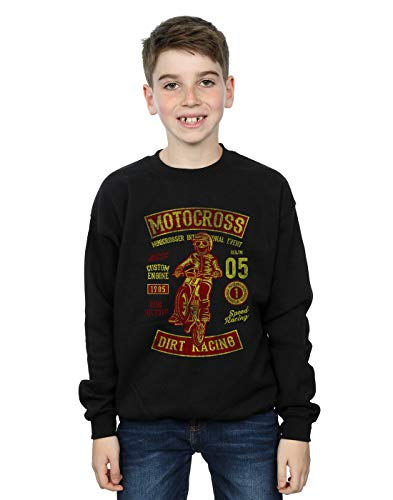 Absolute Cult Drewbacca Jungen Motocross Dirt Sweatshirt Schwarz 12-13 Years -