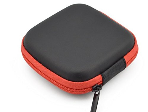 Di Grazia Multipurpose Pocket Storage Case for Earphone Headphone Data Cable- Red