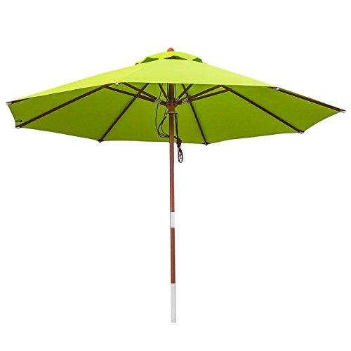 anndora® Sonnenschirm Gartenschirm 3 m rund wasserabweisend - mit Winddach Apfel Grün/Limette