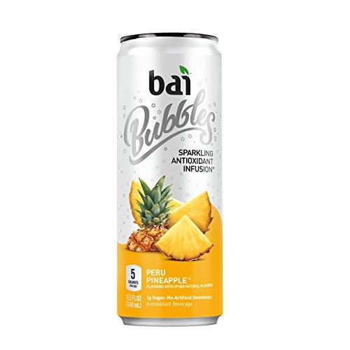 Bai - Hineingegossenes Antioxidansgetränk sprudelt Peru Ananas - 12 Dosen (Bai Ananas)