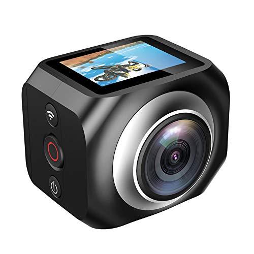 LuckyZA 360 Grad Action Kamera 4K 1080P 16MP Doppel-Objektiv Panorama Sport Kamera 2.4G Fernbedienung VR Camcorder mit 1200mAh Batterien und Zubehör Kits