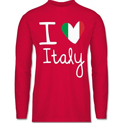 Shirtracer Love - I Love Italy - Herren Langarmshirt Rot