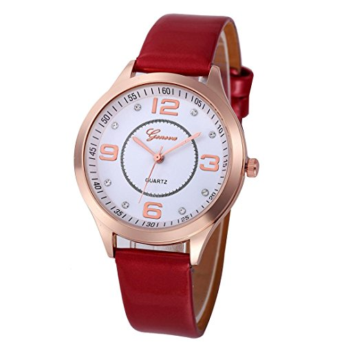 Frauen Armbanduhr, Kingwo Damen Mädchen Casual Uhren Checkers Quarz Analog Armbanduhr Armband (N)