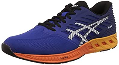 ASICS Men's Fuzex ASICS Blue, Indigo Blue and Hot Orange Running Shoes - 11 UK/India (46.5 EU) (12 US)