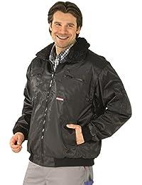 0334 Planam Gletscher Piloten Jacke, schwarz, auch in Übergrößen