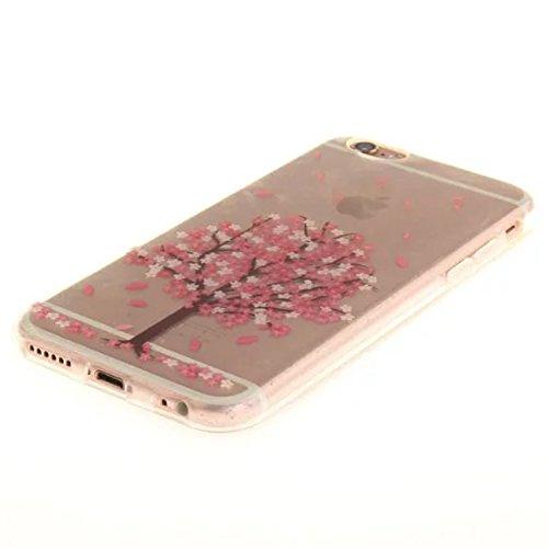 Yrlehoo custodia per iPhone 6 6S 4,7 pollici, Custodia protettiva posteriore in silicone morbido per iPhone 6 6S 4,7 pollici case cover, albero albero