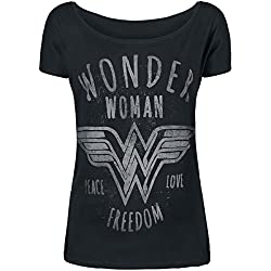 Wonder Woman Freedom Camiseta Mujer Negro M